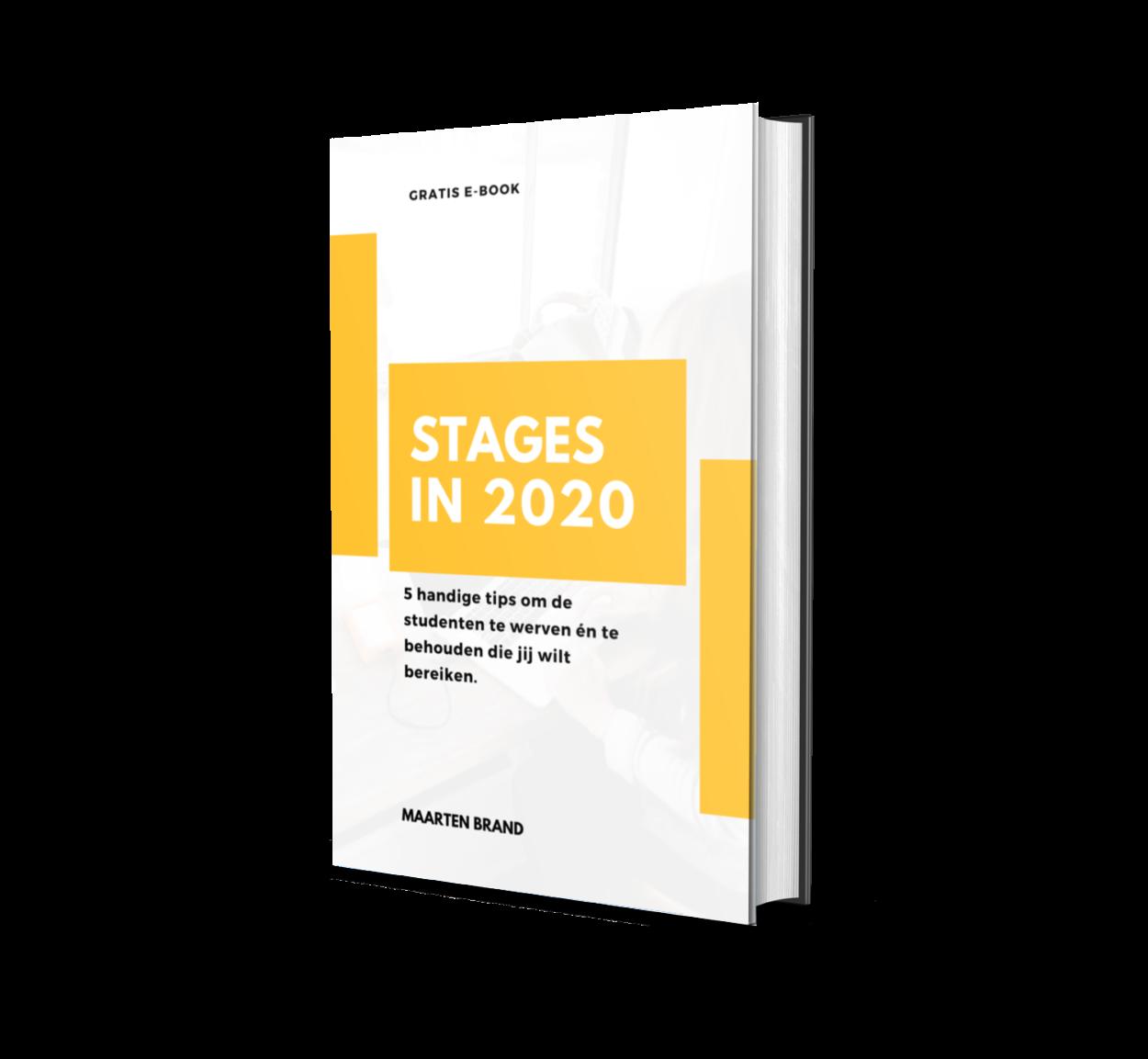 ebook 2020 stagiair werven