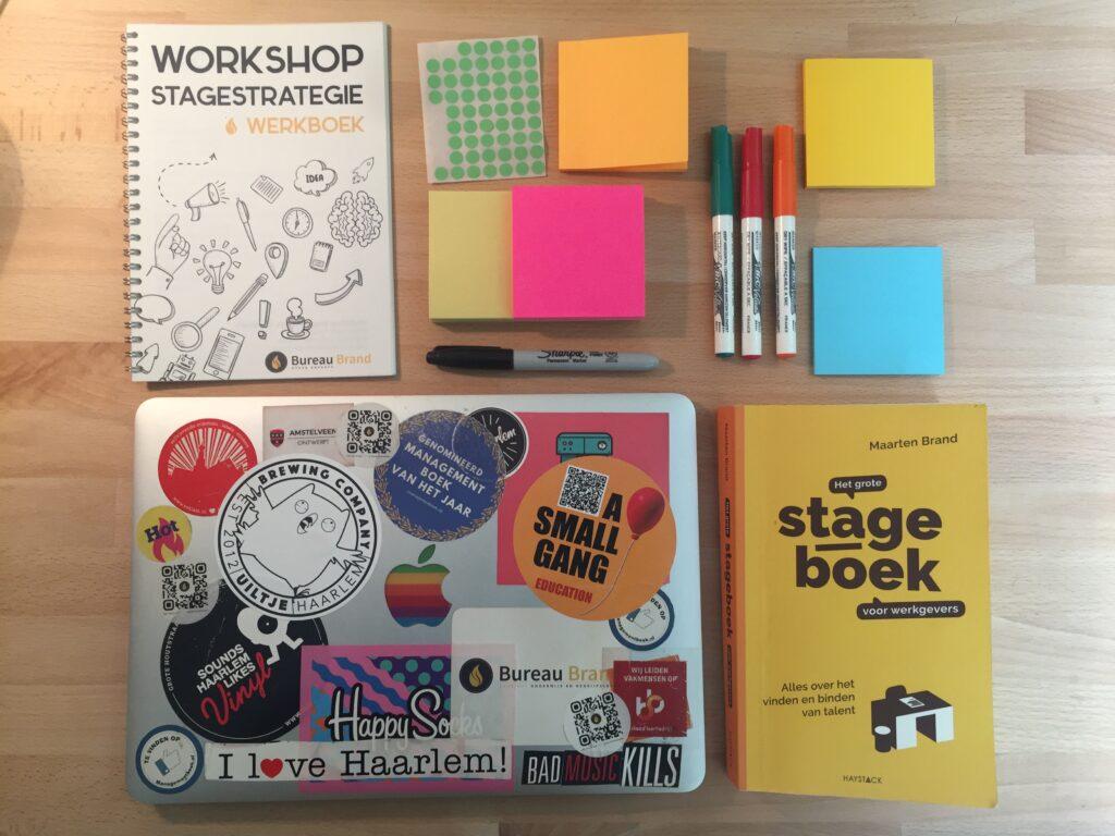 spullen voor workshop stagestrategie
